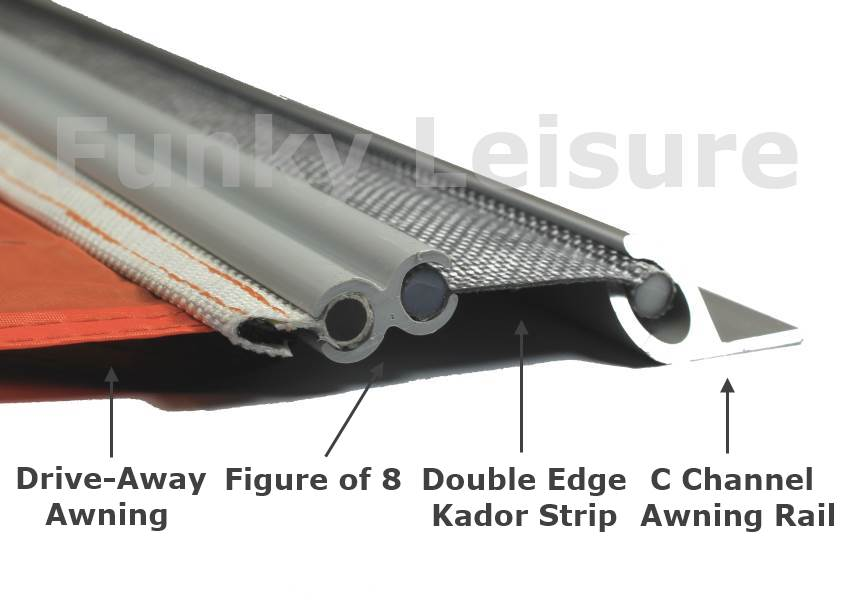 Double Edge Kador Strip Awning Connector 6mm To 6mm